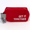 Dopp Bag 5x8 Cotton Canvas Get It Together Red (9.50)