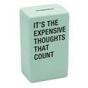 Bank 5x3x2 Ceramic Thoughts That Counts (5.00)