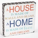 Wall Sign 20x16 Wooden  White/ Home Mulitcolor (8.00)