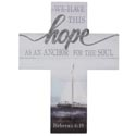 Cross Wall 12.25x16 Wooden Hope Hebrews 6:19 (12.50)
