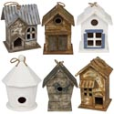 Bird House Wood 6 Assorted Styles And Sizes