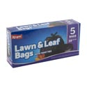 Trash Bags 5ct - 39 Gallon Black Lawn And Leaf