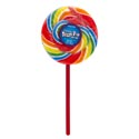 Lollipop Spinning Dizzy Pop 3oz Rainbow Spiral Fruit Candy Pdq