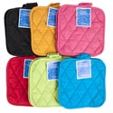 Pot Holders 2pk 8x8 6 Assorted Hot Colors