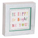 Wall Plaque 7x7x1 Wood Be Happy *14.99*