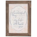 Wall Decor 14x10 Wood Frame Most Wonderful *19.99*