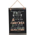 Wall Decor 17x11 Banner Canvas W/wood & Tassel Faithful Servant *17.49*