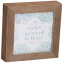 Wall Plaque 7x7x1 Wood Call Her Blessed *14.99*