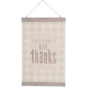 Wall Decor 17x11 Banner Canvas W/wood Give Thanks *17.49*