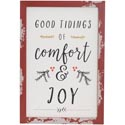 Wall Decor 19x13 Distressed Wood Christmas Comfort & Joy *19.99*