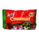 Candy Caramel Fill Choc Flavor Santas 50z Bag In 24ct Pdq