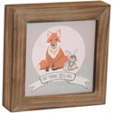 Wall Plaque 7x7x1 Wood Be Brave *14.99*
