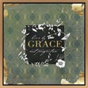 Canvas 19x19x1 Wood Frame Live By Grace *39.99* Gold Embld