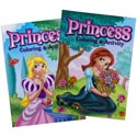 Coloring Book Princess In Pdq 2 Asst With Bonus Cut Out