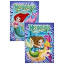 Coloring Book Mermaids In Pdq 2 Asst W/bonus Cut Outs