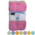 Wash Cloths 12 Pack 11x11 Banded 2 Color Assortments # 2119-12wc