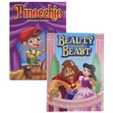 Coloring Book Fairy Tales 2 Assorted In Pdq Beauty & The Beast / Pinocchio