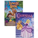 Coloring Book Fairy Tales 2 Assorted In Pdq Cinderella And Junglebook
