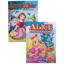 Coloring Book Fairy Tales 2 Assorted In Pdq Snow White / Alice In Wonderland