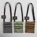 Shoulder Bag 3ast Designs Polyester W/zippers & Adjustable Strap 6.4 X 8in/ht