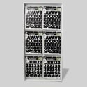 Letters/numbers Black 12 X 9 2 Sided 144pc Dsply Removable See N2 # Rhl-1209-bln