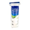 Cotton Rounds 80ct 100% Cotton Resealable Poly Bag #0230101