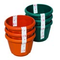 "Planter 3pk Round 3""dia X 4""h Terra Cotta, Green In Pdq #lotus 6"