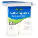Cotton Squares 80ct 100% Cotton Resealable Poly Bag #0232991