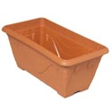 Planter Rectangular Window Green,terra Cotta 15x7.25x7 #petunia Big No Holes