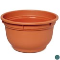 "Planter Round 15""x 9""h 2-colors #5139 No Punched Out Holes"