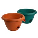 Planter Hanging Self Watering 2 Colors Terra Cotta, Hunter Green Ref #evergreen 2