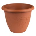 Planter Round 14.6d X 11.2h Grapes Terra Cotta/green #hg0237