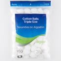 Cotton Balls 100 Ct Peggable & Resealable Bag #0235971