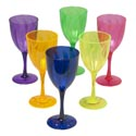 Wine Glass Plastic 6 Colors 14 Oz In Pdq Bpa Free