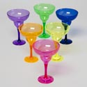 Margarita Glass Plastic 12oz 6 Colors In Pdq Bpa Free 53g