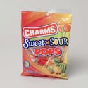 Lollipops Charms Sweet/sour Pops 3.85oz 2x12ct Mdsg Strips/ctn