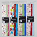 Tissue Paper Birthday 4ast Prints 8sheet W/coord Solid 4ptd/2/2 20x20in Longfold