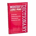 Dictionary Webster's Large Print In Pdq Ppd $3.95 B2510p