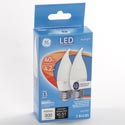 Light Bulbs 2pk Led 4.2 = 40w Ge Bent Tip Med Base *9.99* Daylight Frosted Finish Boxed
