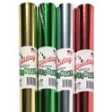 "Gift Wrap Foil Xmas 30"" Width 20 Sq Ft Ppd $3.99 On 1.5"" Core 4 Sold Colors Gold,red,grn &slvr"