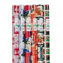 Gift Wrap Christmas 85 Sq Ft 1.5in Core Asst Designs Ppd$6.99 Made In Usa