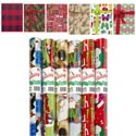 Gift Wrap Christmas 100 Sq Ft 1.5in Core Asst Designs Ppd$6.99 30 Inch Width