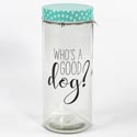 Canister Glass 75oz Dapper Dog Whos A Good Dog W/lid