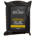 Face & Body Mens Wipes 30ct Charcoal Cleansing Nobleman W/aloe And Chamomile