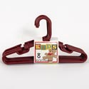 Hangers Tubular Rust 8pc Kids