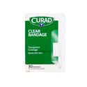 Bandages Curad 30ct Clear Plastic .75x3 Strips Boxed # Cur44010