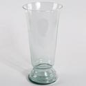 Vase 14in Glass Grecian 6.75in Opening