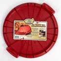 Pizza Cutting/serving Tray Red Plastic W/handles Ez Slice