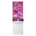 Valentine Candy Kissy Lips Fruit Flvr Lollipops .8oz 72pc Flr Dsp