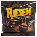 Candy Riesen Chocolate Caramels 2.65 Oz Peg Bag